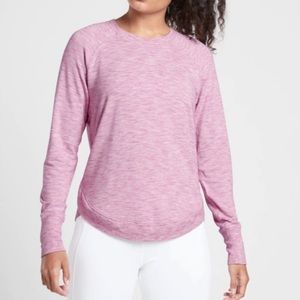 Athleta Marl Heather Purple Mindset Sweatshirt| XS